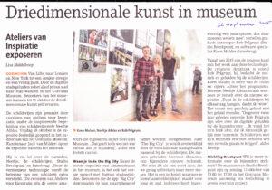 Driedimensionale kunst in museum